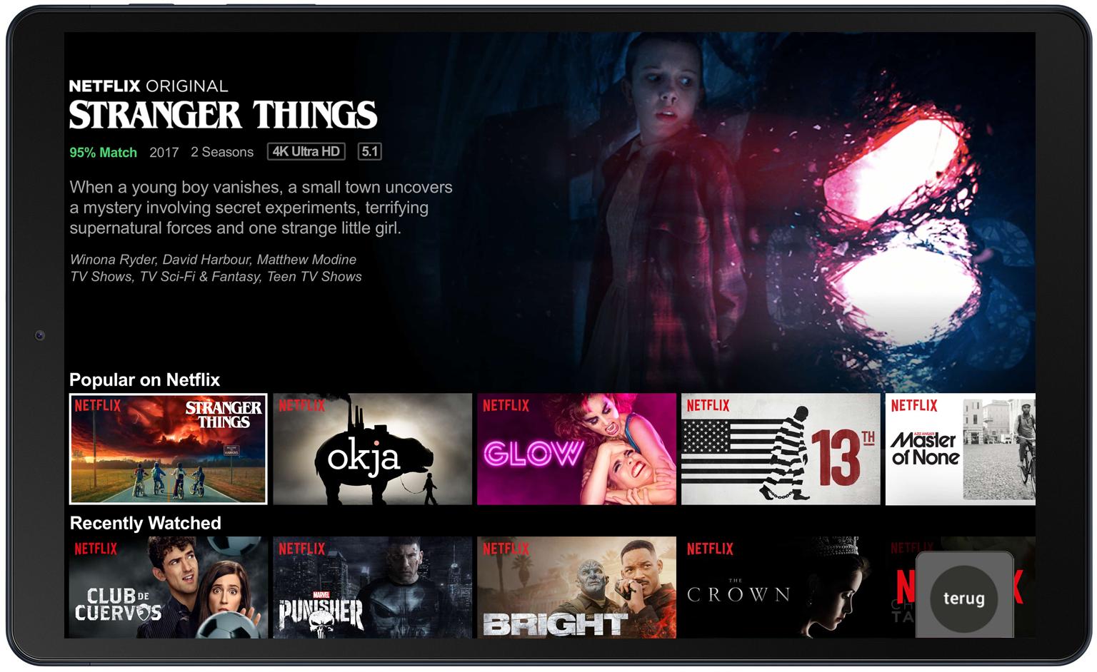 Netflixapp tablet